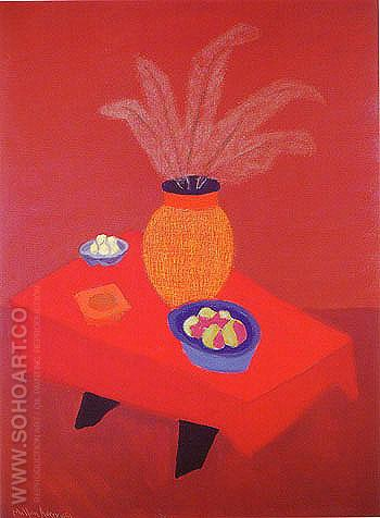 Orange Vase - Milton Avery reproduction oil painting