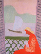 March on the Balcony - Milton Avery reproduction oil painting
