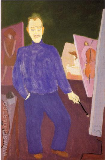 Self-Portrait - Milton Avery reproduction oil painting