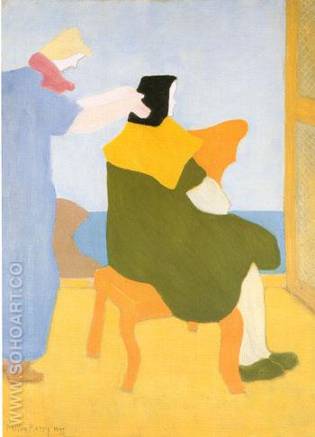 The Haircut - Milton Avery reproduction oil painting