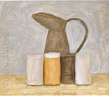 Still Life 1961 - Georgio Morandi reproduction oil painting