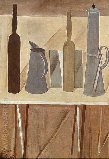 Still Life 1916 - Georgio Morandi reproduction oil painting