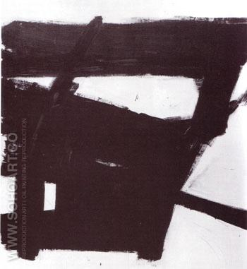 Wanamaker Block 1955 - Franz Kline reproduction oil painting