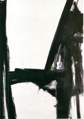 Slate Cross - Franz Kline reproduction oil painting