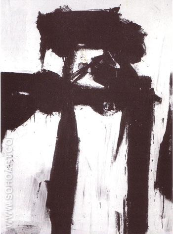 Figure 1956 - Franz Kline reproduction oil painting