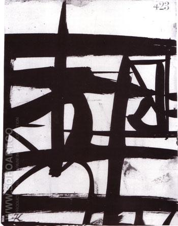 Untitled 1950 - Franz Kline reproduction oil painting