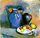 Still Life with Blue Jug - Henri Matisse reproduction oil painting