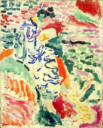 Woman in Japanese Robe beside the Water 1905 - Henri Matisse reproduction oil painting