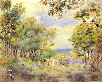 Landscape at Beaulieu 1899 - Pierre Auguste Renoir reproduction oil painting