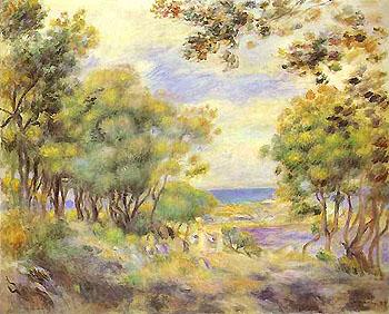 Landscape at Beaulieu 1899 - Pierre Auguste Renoir reproduction oil painting