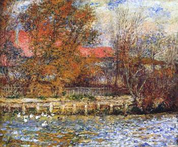 Duck Pond 1873 - Pierre Auguste Renoir reproduction oil painting