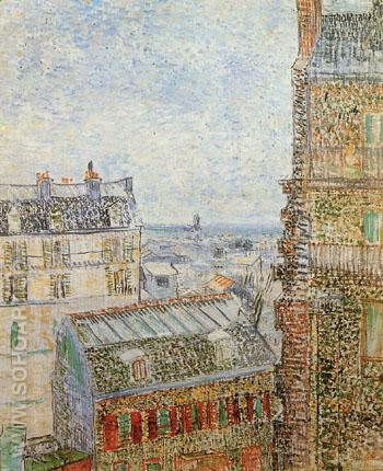 View of Paris from Vincent's Room in the Rue Lepic 1887 (1) - Vincent van Gogh reproduction oil painting