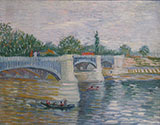 The Seine with the Pont de la Grande Jatte 1887 - Vincent van Gogh reproduction oil painting
