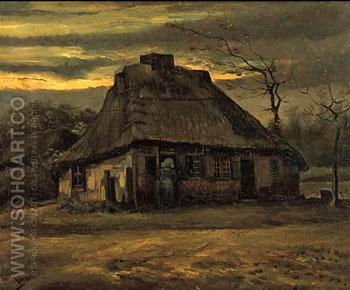The Cottage 1885 - Vincent van Gogh reproduction oil painting