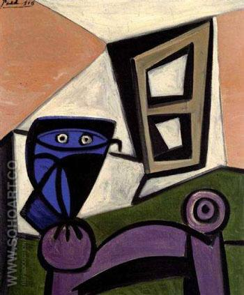 Hibou sur une Chaise 1947 - Pablo Picasso reproduction oil painting