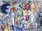 La Vie 1964 - Marc Chagall reproduction oil painting