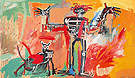 Boy and Dog in a Johnnypump - Jean-Michel-Basquiat