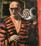 Self Portrait with Horn 1938 - Max Beckmann reproduction oil painting