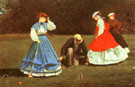 The Croquet Game 1866 - Winslow Homer reproduction oil painting