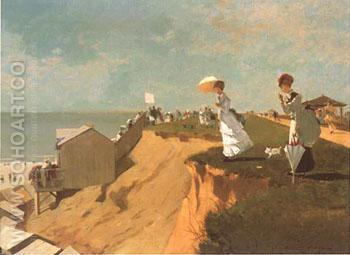 Long Branch New Jersey 1869 - Winslow Homer reproduction oil painting