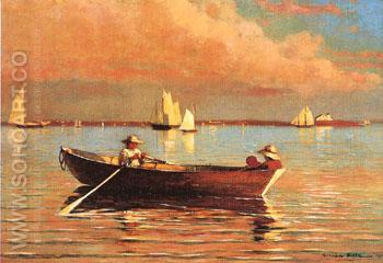 Gloucester Harbour 1873 - Winslow Homer reproduction oil painting