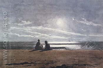 Moonlight 1874 - Winslow Homer reproduction oil painting