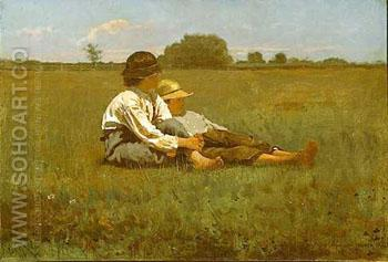 Boys in a Pasture 1874 - Winslow Homer reproduction oil painting