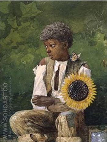 Taking Sunflower to Teacher 1875 - Winslow Homer reproduction oil painting