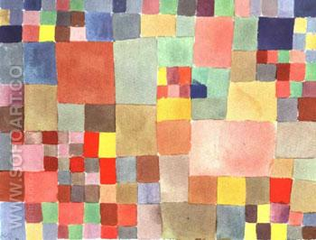 Flora on the Sand 1927 - Paul Klee reproduction oil painting