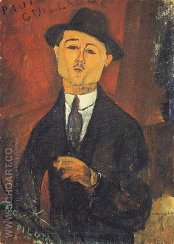 Portrait of Paul Guillaume 1915 - Amedeo Modigliani reproduction oil painting