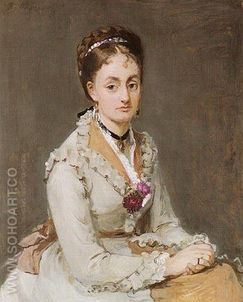 Portrait of Emma 1870 - Berthe Morisot reproduction oil painting