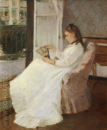 The Artists Sister at a Window 1869 - Berthe Morisot reproduction oil painting