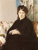 Portrait of Mme Pontillon 1871 - Berthe Morisot reproduction oil painting