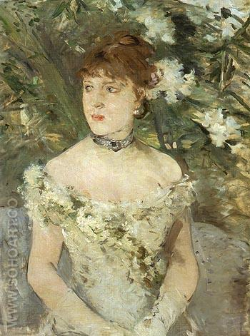 Young Woman Dressed for the Ball 1879 - Berthe Morisot reproduction oil painting