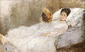 Portrait of Mme Hubard 1874 - Berthe Morisot reproduction oil painting
