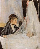 The Cradle 1872 - Berthe Morisot reproduction oil painting