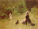 On the Lawn 1874 - Berthe Morisot reproduction oil painting