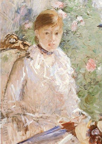 Summer Young Woman by a Window 1878 - Berthe Morisot reproduction oil painting