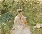 The Wet Nurse Angele Feeding Julie Manet 1880 - Berthe Morisot reproduction oil painting