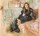 Julie Manet and Her Greyhound Laertes 1893 - Berthe Morisot