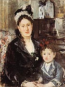 Portrait of Mme Boursier and her Daughter 1874 - Berthe Morisot