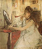 Young Woman Powdering her Face 1877 - Berthe Morisot