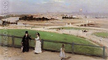 View of Paris From the Trocadero 1872 - Berthe Morisot reproduction oil painting
