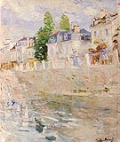 The Quay at Bougival 1883 - Berthe Morisot