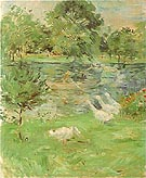 Girl in a Boat with Geese 1889 - Berthe Morisot