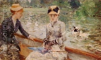 A Summers Day 1879 - Berthe Morisot reproduction oil painting