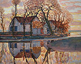 Farm at Duivendrecht 1905 - Piet Mondrian reproduction oil painting