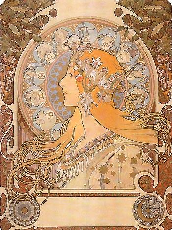 Zodiac 1896 - Alphonse Mucha reproduction oil painting