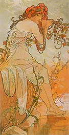 Summer (from the Seasons series) 1896 - Alphonse Mucha reproduction oil painting