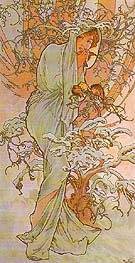 Winter 1896 - Alphonse Mucha reproduction oil painting